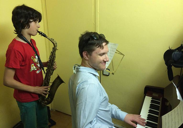 Saxophone lesson