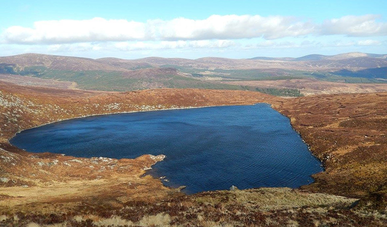 Lough Ouler in the Wicklow Mountains