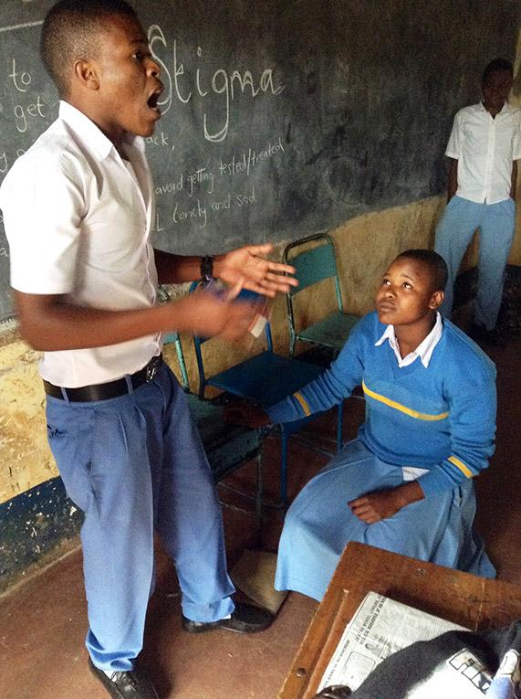 High school students in Tanzania