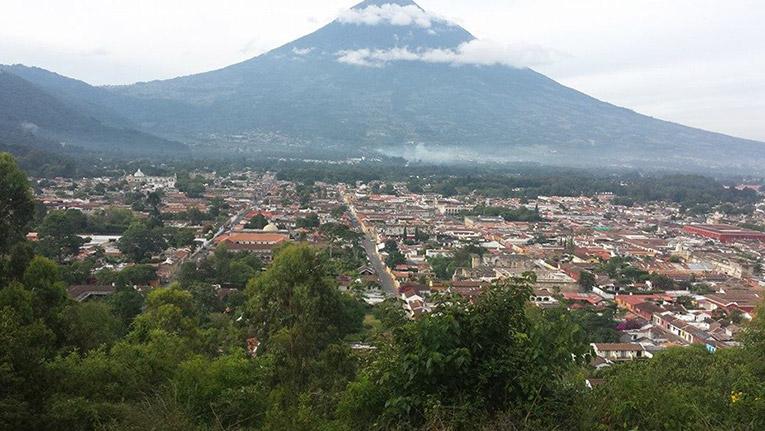 Overlooking the city of Antigua, Guatemala