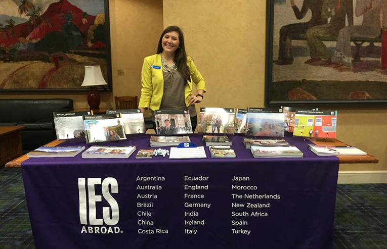IES Abroad table at a study abroad fair