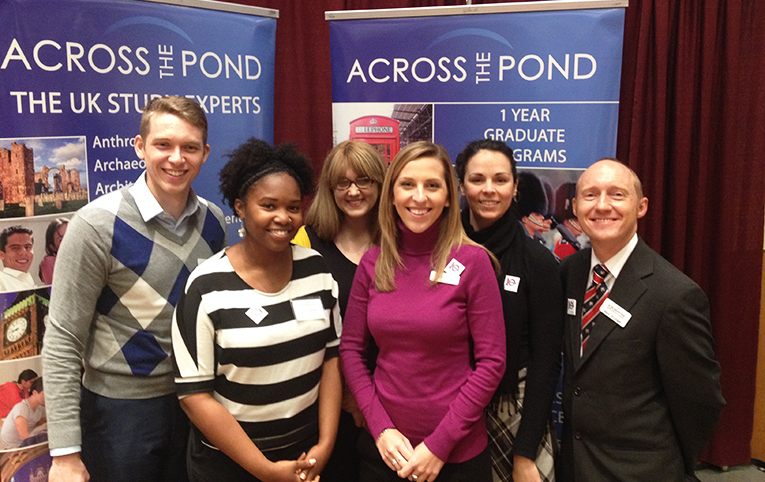 Across the Pond staff at a recruitment event in 2012
