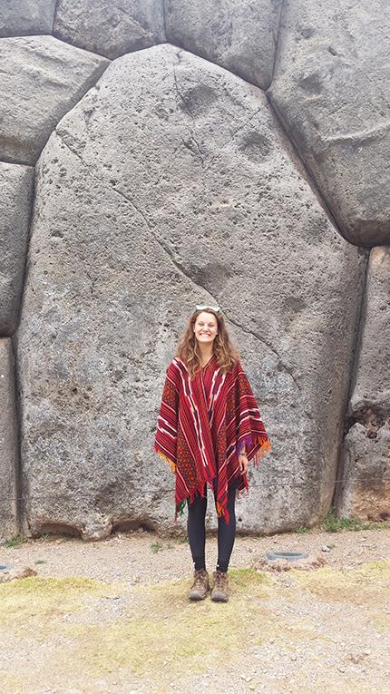 Visiting the Incan ruins in Peru