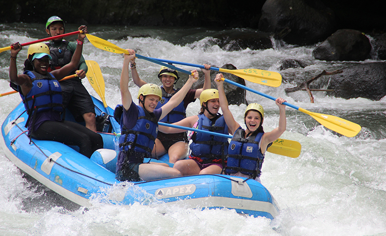 White water Rafting down the Rio Pacuare in Costa Rica