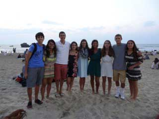 SPI Study Abroad students in Biarritz, France