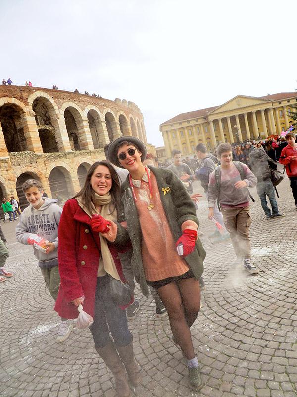 Carnevale tradition in Verona.