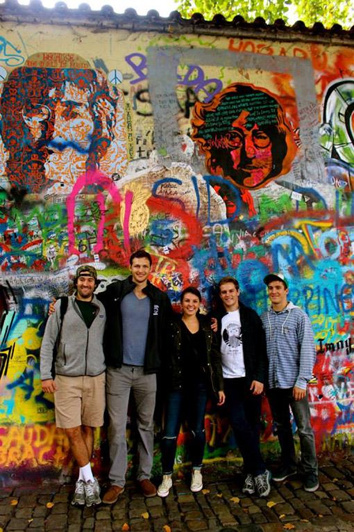 The John Lennon Wall in Prague, Czech Republic