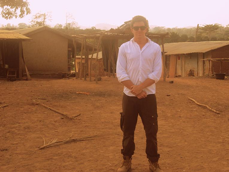 Volunteer in a remote village in Ghana