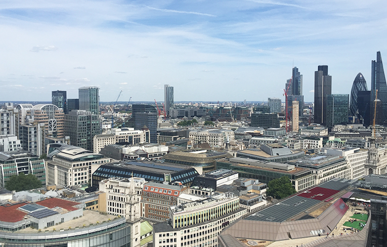 View of London from the top of St. Pauls Cathedral
