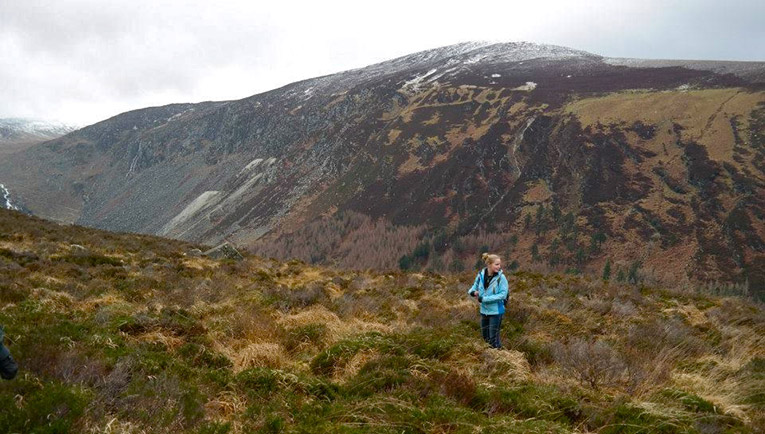Hiking in the Wicklow Mountains in Ireland