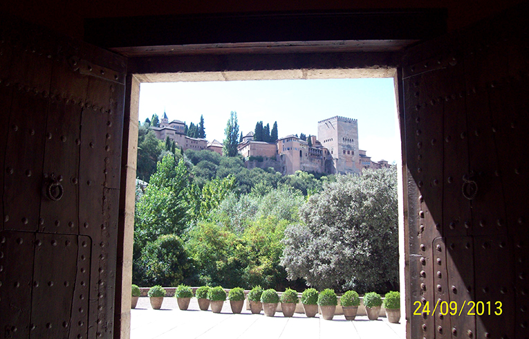 View of La Alhambra in Spain
