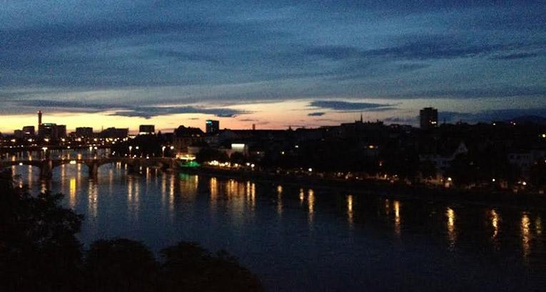Basel, Switerland at night
