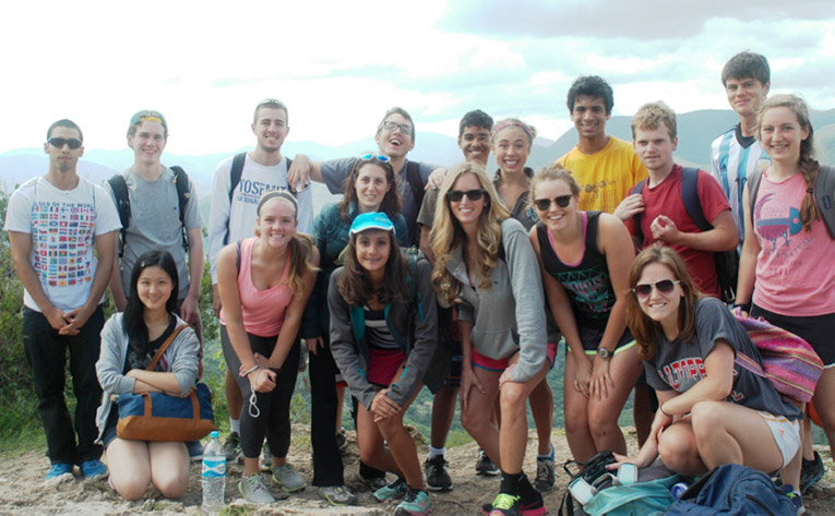 Study abroad students at Hierve Agua in Mexico