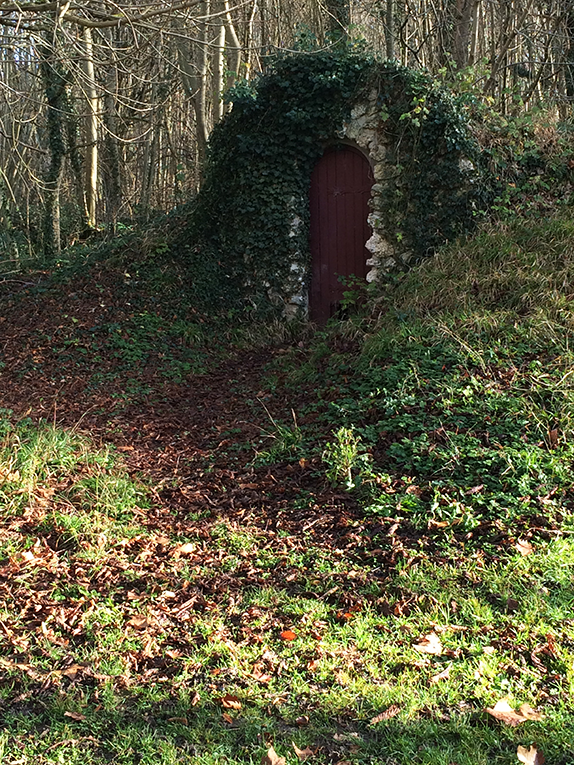 Door in the middle of a forest