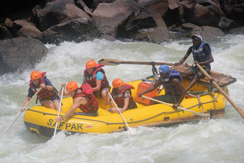 White Water Rafting on the Zambezi River in Africa