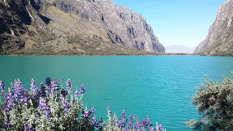 A lake in Huaraz National Park, Peru