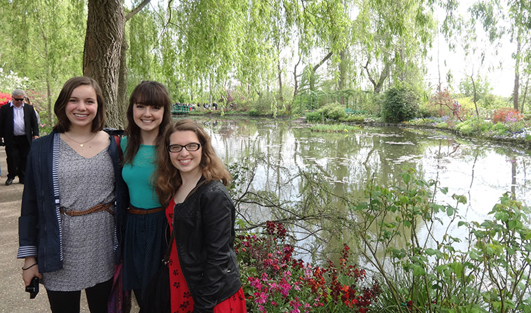 At Monets water gardens in Giverny, France