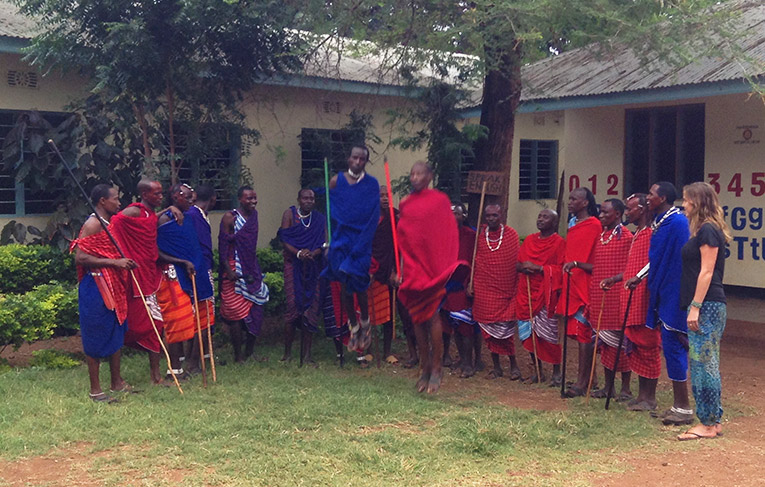 Traditional Maasai jumping ceremony in Tanzania