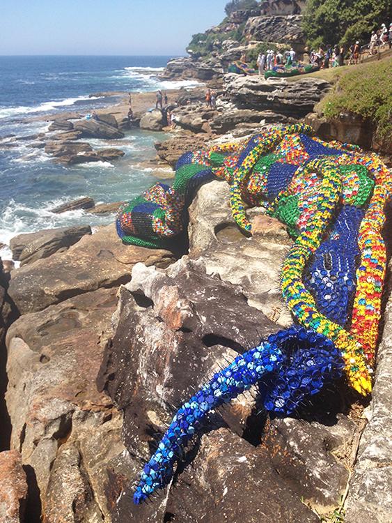 Sculpture on the Bondi to Coogee beach walk