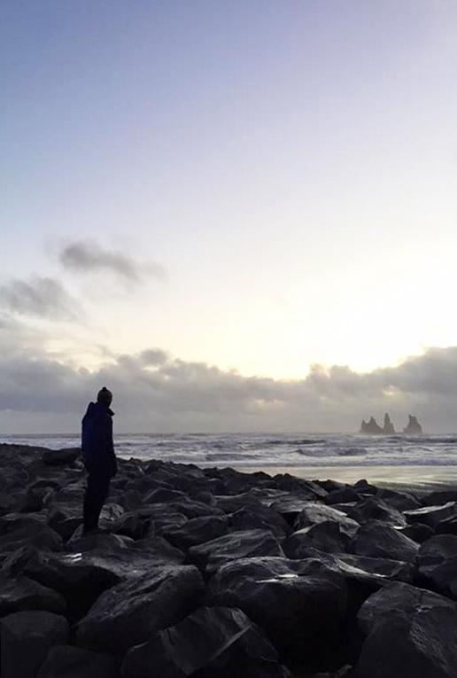 Coastal view in Vik, Iceland