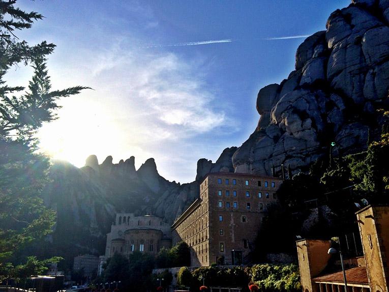 A view of Montserrat, Spain