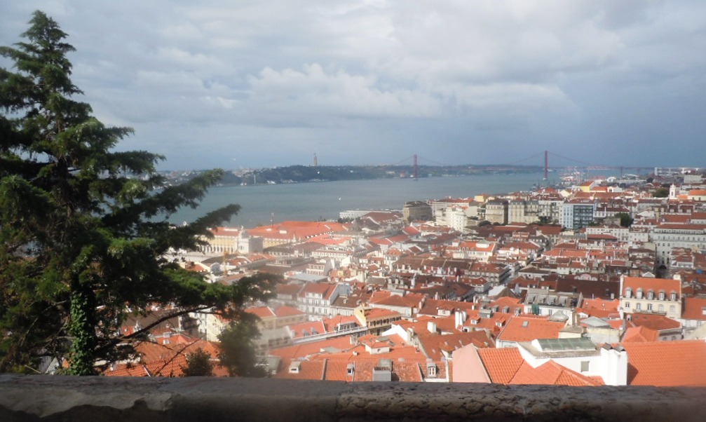 View of the harbor in Lisbon, Portugal
