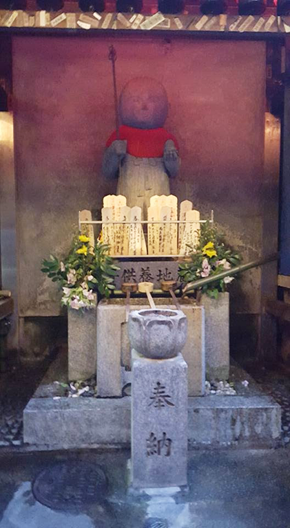 A tiny shrine in an alley of Kyoto, Japan