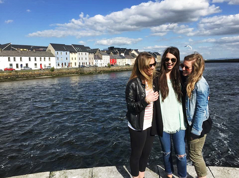 Friends visiting Galway Bay, Ireland