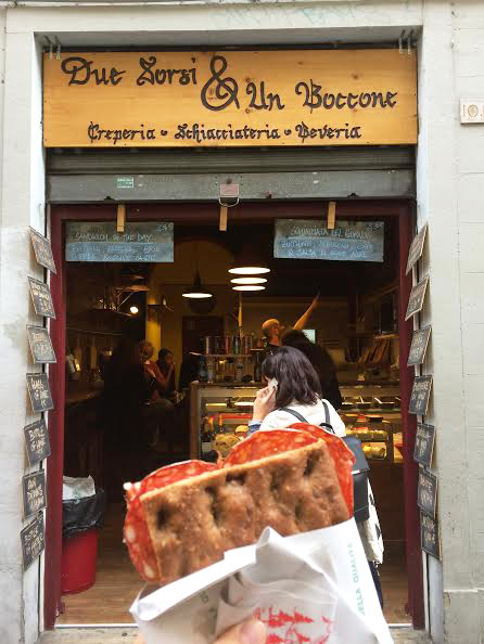 An Italian delicacy shop in Florence, Italy