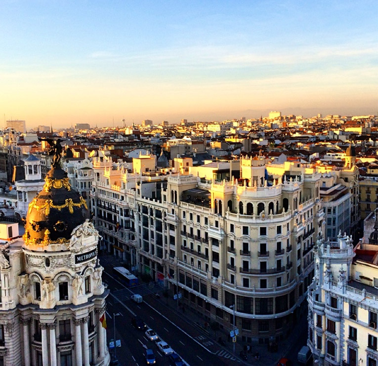 View of Madrid from Terraza del Circulo de Bellas Artes