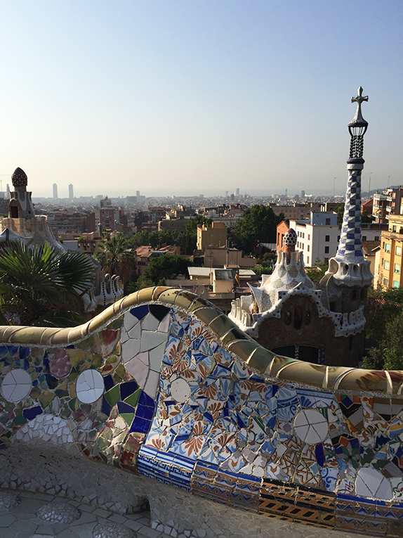 View of Barcelona, Spain from Park Guell