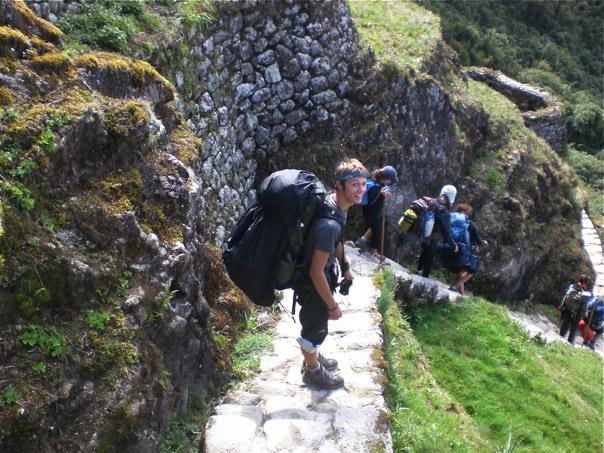 Hiking along the Inca Trail in Peru