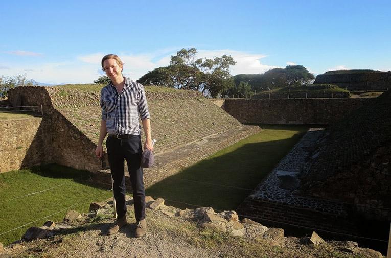 Monte Albán ruins in Oaxaca, Mexico