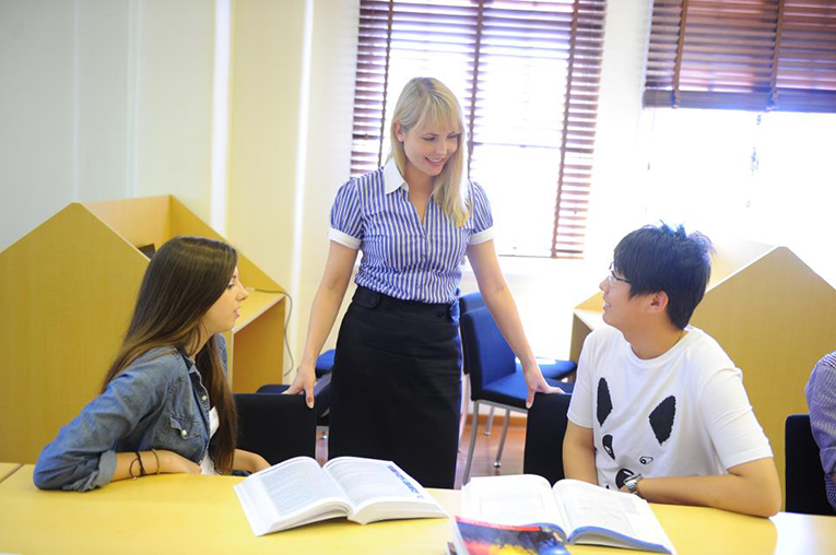 English teaching at a university in Shanghai, China