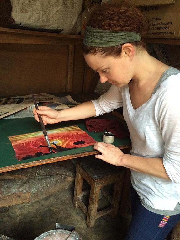 Batik making in Tanzania