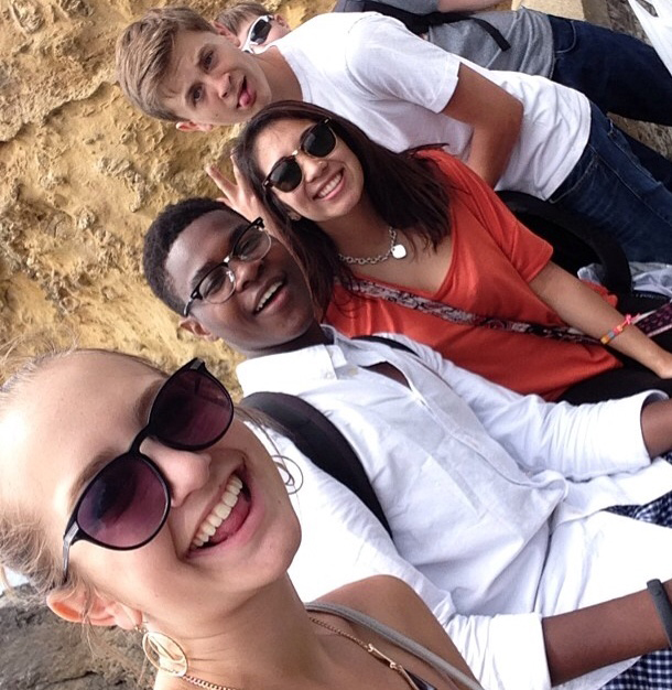 Study abroad students in Biarritz, France