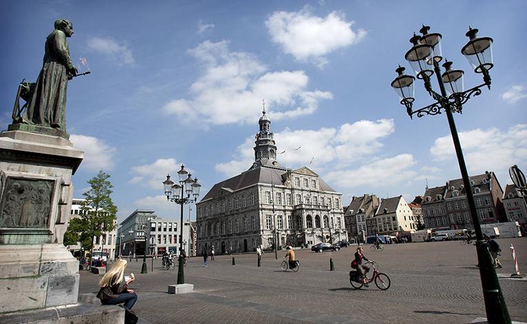 Market square in Maastricht, Netherlands