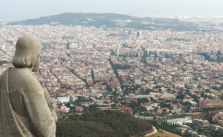 View of Barcelona from Tibidabo.