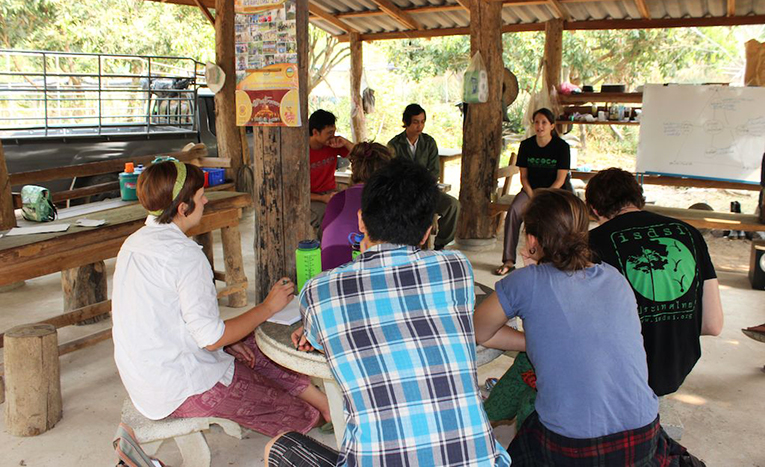 ISDSI volunteers and local farmers in Thailand