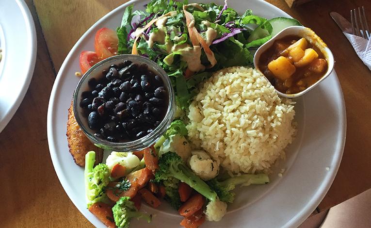 Traditional Costa Rican Casado Vegetariano