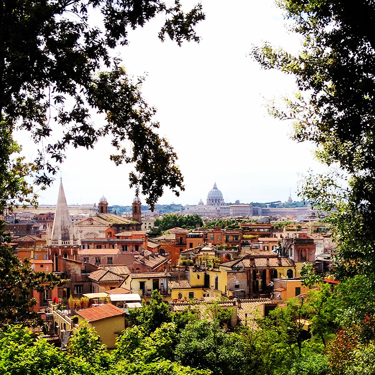 View of Villa Borghese Pinciana