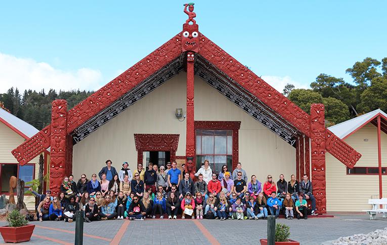 International interns visiting Rotorua, New Zealand
