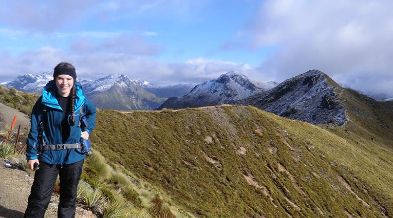 Kepler Track in Fiordlan National Park, New Zealand