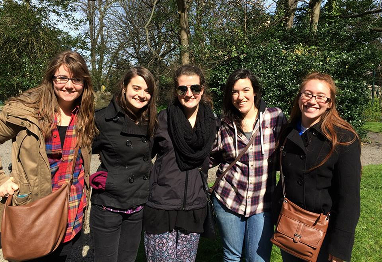 Students at Iveagh Gardens in Dublin, Ireland