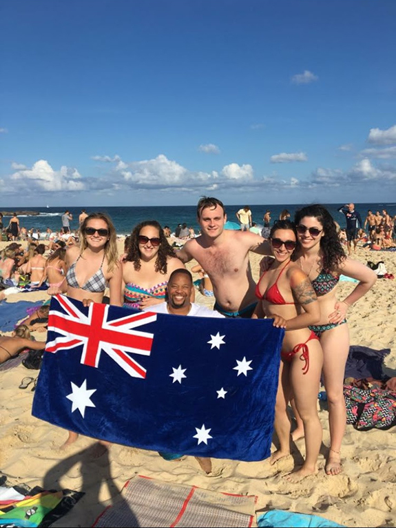 Coogee Beach in New South Wales, Australia Day