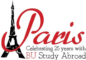 Paris Anniversary logo of BU