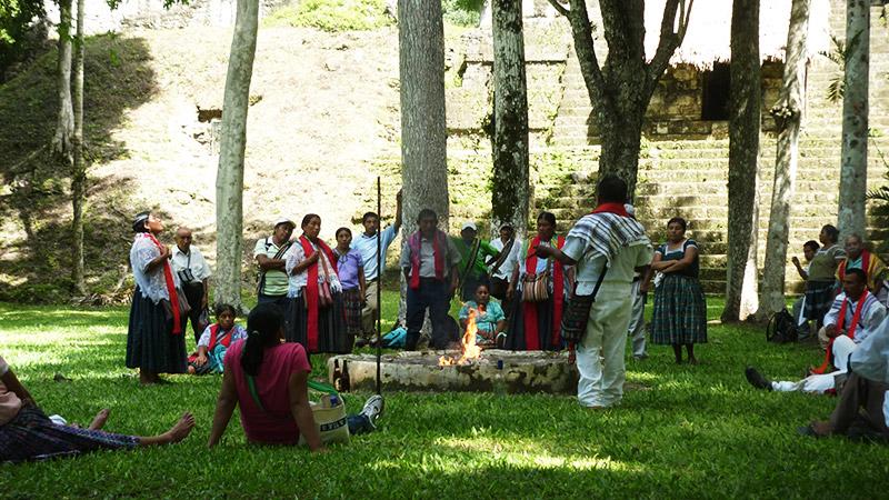 A Maya Spiritual ceremony in Tikal, Belize.