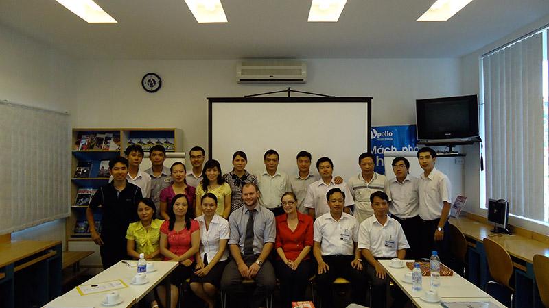 University professors in Hai Phong, Vietnam.