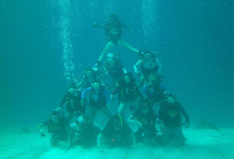 Underwater pyramid in Thailand
