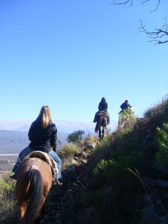Study abroad students horseback riding in Salta